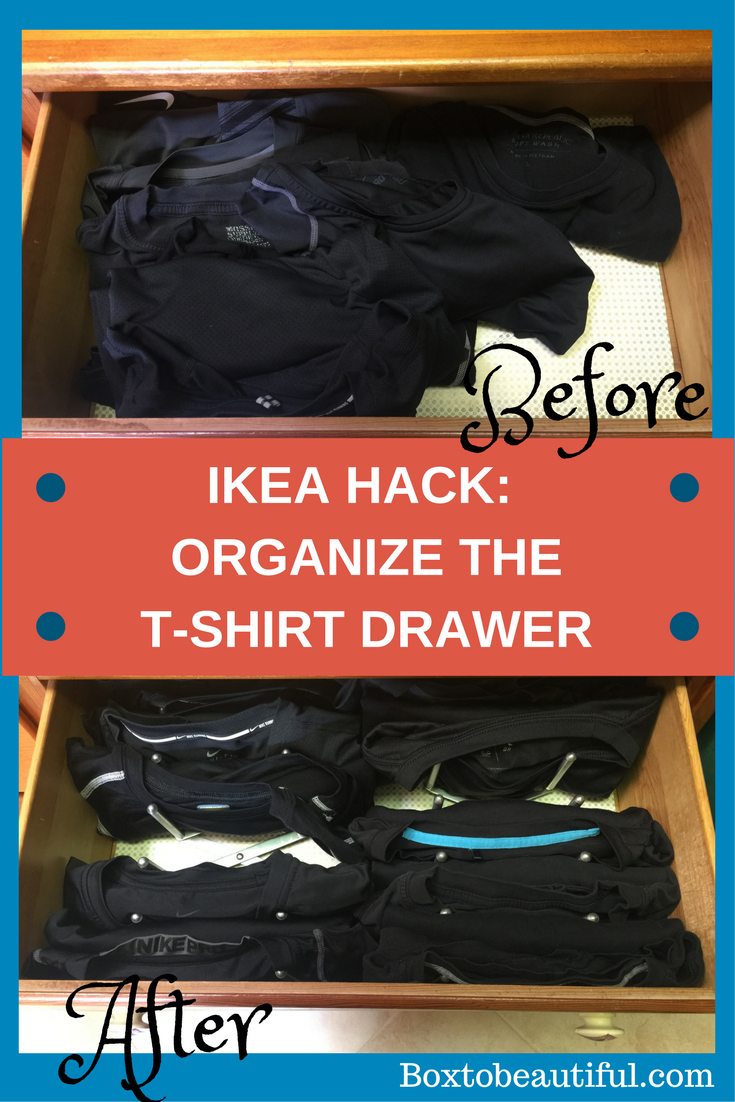 Quick tip ikea hack for organizing t shirt drawer box for T shirt drawer organization